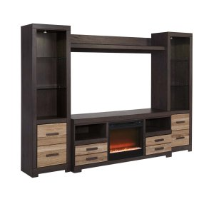 Ashley Furniture Harlinton - Two-Tone 5 Piece Entertainment Set