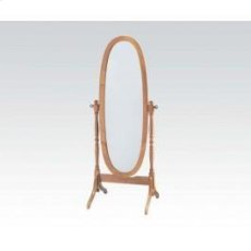 Wood Stand Mirror Oak Product Image