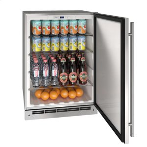 "U-Line24"" Refrigerator With Stainless Solid Finish (115 V/60 Hz Volts /60 Hz Hz)"