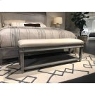 Willow Bed End Bench - Pewter Product Image