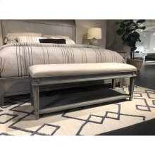Willow Bed End Bench - Pewter