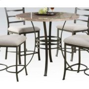"Val 40""d Wh Faux Counter Table Product Image"