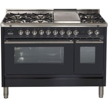 "48"" - 7 Burner, w/Griddle in Matte Graphite"