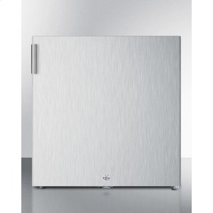 SummitCompact Commercially Listed All-freezer for General Purpose Use, Manual Defrost With Lock and Stainless Steel Exterior