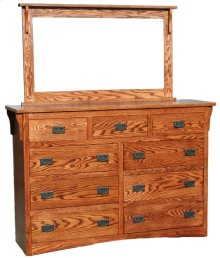 O-M453 Mission Oak 9-Drawer Bedroom Dresser
