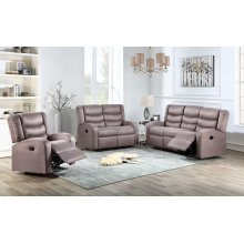 Deana Taupe Reclining Loveseat