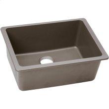 "Elkay Quartz Classic 24-5/8"" x 18-1/2"" x 9-1/2"", Single Bowl Undermount Sink, Greige"
