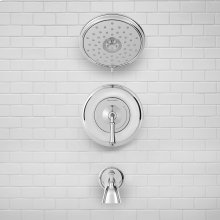 Delancey Tub and Shower Trim Kit - Water-Saving Shower Head  American Standard - Polished Chrome