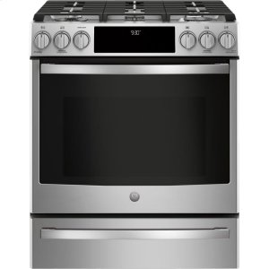"GE ProfileGE PROFILEGE Profile™ 30"" Smart Slide-In Front-Control Gas Range"
