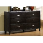 Nacey Dark Brown Six-drawer Dresser Product Image