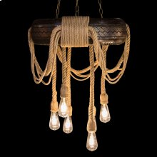 hemp Ropes and Bare Bulbs Give the Classic Chandelier A Rustic Twist, Making A Unique Centerpiece for the Casual Home. the Countryside Is Never Far Away, and Your Home Has Never Felt More INVITING.