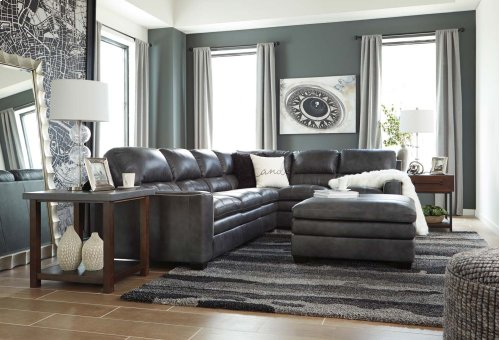 Gleason - Charcoal 2 Piece Sectional