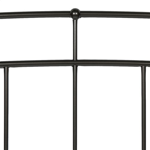 Scottsdale Complete Metal Daybed with Link Spring Support Frame and Pop-Up Trundle Bed, Black Speckle Finish, Twin