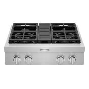 KitchenAid® 30'' 4-Burner Commercial-Style Gas Rangetop Stainless Steel