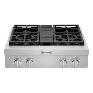 KitchenaidKitchenAid® 30'' 4-Burner Commercial-Style Gas Rangetop Stainless Steel