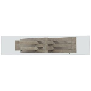 Living Room Affinity Glass Top Accent Console