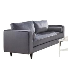 GRAY LOVESEAT W/2 PILLOWS