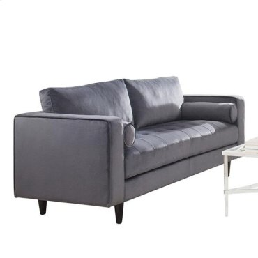 GRAY SOFA W/2 PILLOWS