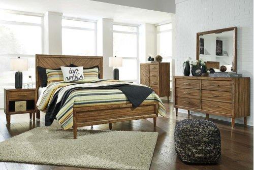 Broshtan - Light Brown 3 Piece Bed Set (Queen)