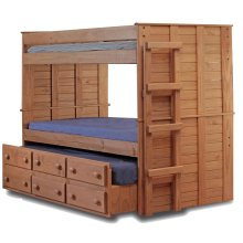 Twin/Twin Bunk Bed w/Twin Trundle Unit
