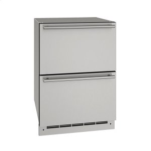 "U-Line24"" Refrigerator Drawers With Stainless Solid Finish (115 V/60 Hz Volts /60 Hz Hz)"