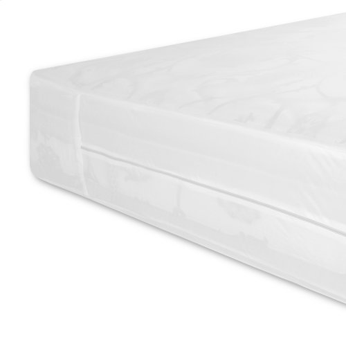 Sleep Calm Easy Zip Expandable Mattress Encasement with Stain and Dust Mite Defense, Twin