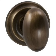 Interior Traditional Egg-shaped Knob Latchset in (SB Shaded Bronze, Lacquered)