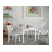 Juvenile Table and Chairs in White