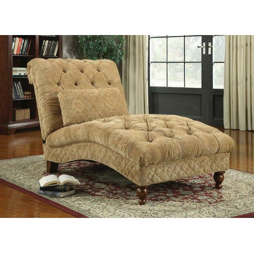 Transitional Golden Sand Chaise