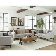 Asherton Modern Grey Loveseat