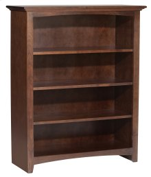 "CAF 48""H x 36""W McKenzie Alder Bookcase in Cafe Finish"