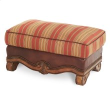 Leather/fabric Ottoman