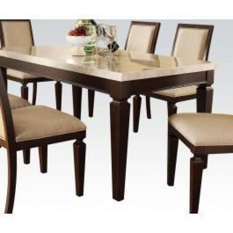 Dining Table W Wh Marble Top