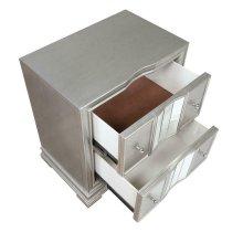 Adele Contemporary Metallic Platinum Nightstand