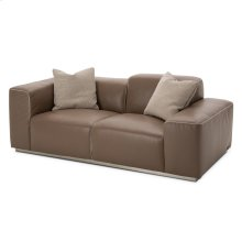 Eclipse Leather Match Loveseat