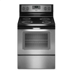 4.8 Cu. Ft. Freestanding Electric Range with AccuBake® System - BLACK-ON-STAINLESS