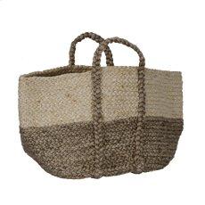 Jute Basket Ivory/Gray Product Image