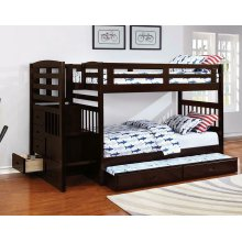 Dublin Traditional Cappuccino Twin-over-twin Bunk Bed