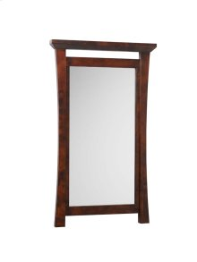 Pacific Rim Solid Wood Framed Bathroom Mirror in Vintage Walnut