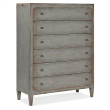 Bedroom Ciao Bella Six-Drawer Chest- Speckled Gray