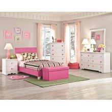 Pink Storage Bench