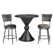 Melange 3-piece Counter Height Bistro Set With Wood Back Swivel Stools