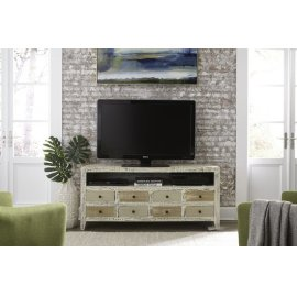 61 Inch Console - Distressed Variety of Neutrals Finish