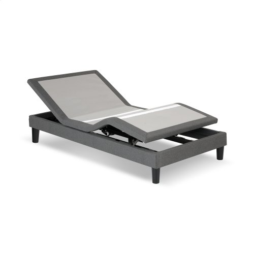 S-Cape 2.0 Adjustable Furniture-Style Bed Base with Wooden Legs and Wallhugger Technology, Charcoal Gray Finish, Twin XL