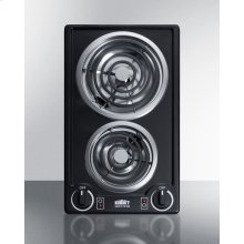 115v 2-burner Coil Cooktop In Black Porcelain With Cord Included; Made In the USA