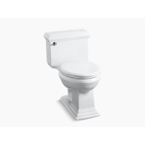 White Comfort Height One-piece Elongated 1.28 Gpf Toilet With Aquapiston Flushing Technology and Left-hand Trip Lever