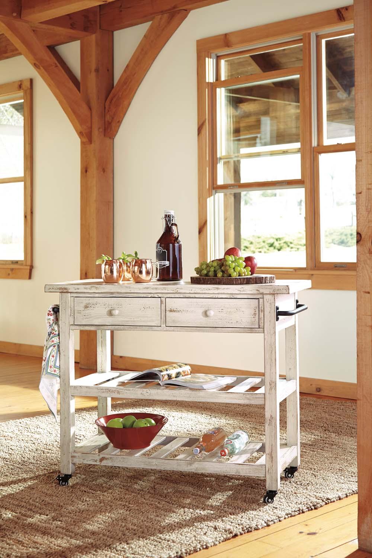 D300766Ashley Furniture Kitchen Cart - Westco Home Furnishings