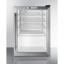 Commercial Glass Door Pub Cellar for Countertop Use, With Stainless Steel Cabinet, Wide Range Digital Thermostat and Lock