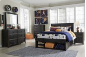 Jaysom - Black 4 Piece Bed Set (Full)