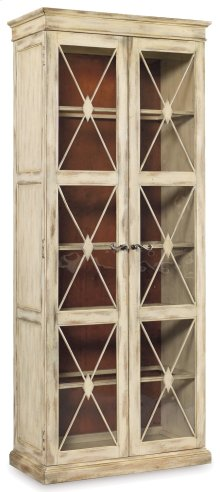Living Room Sanctuary Two-Door Thin Display Cabinet - Dune